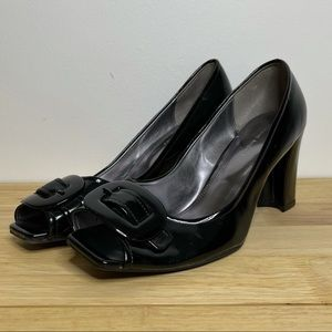 NEW Etienne Aigner Black Buckle Pump
